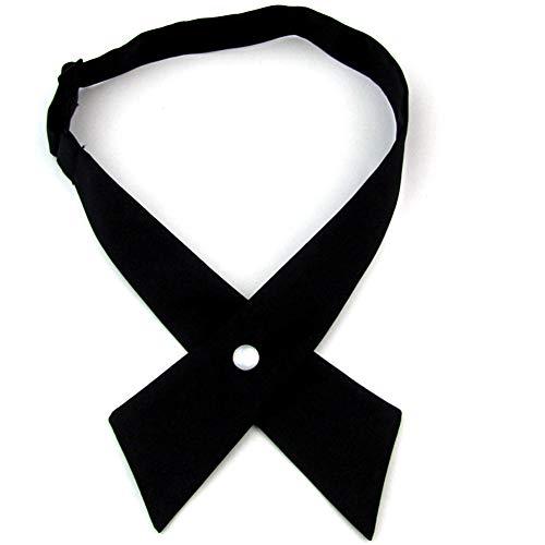 Pajarita ajustable de cruz para mujer, corbata preatada para Halloween, cosplay, accesorio de fiesta WB2, Negro, Talla única