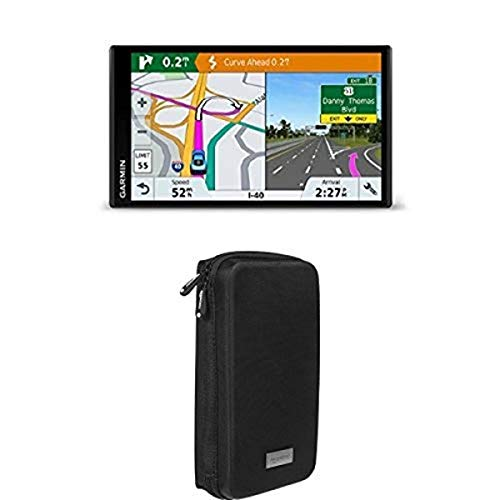 Garmin DriveSmart 61 NA LMT-S with Lifetime Maps+AmazonBasics Universal Travel Case