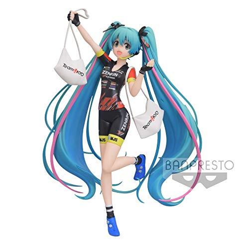 Banpresto Racing Miku Espresto PVC Statue Hatsune Miku 2019 TeamUKYO 17 cm 81917 Noir Grande