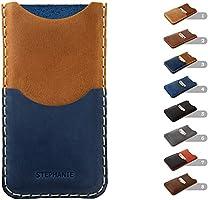 Housse en cuir pour iPhone 12 11 Pro Max XS XR X 8 7 plus 6 6s + SE mini Étui Personnalisé Pochette Case Coque Cover...