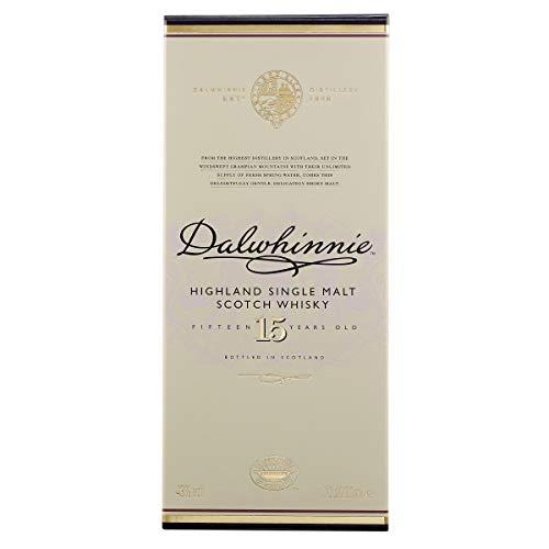 Dalwhinnie Highland Single Malt Scotch Whisky - 15 Jahre gereift - Aromen von Heidekraut und Honig - 1 x 0,7l - 4