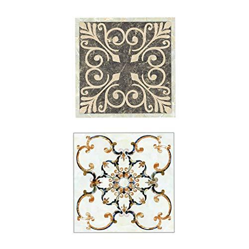 FLAMEER 40 Pedazos Pegatinas Adhesivas para Azulejos Papel Mosaicos de Cocina Material PVC 8x8cm