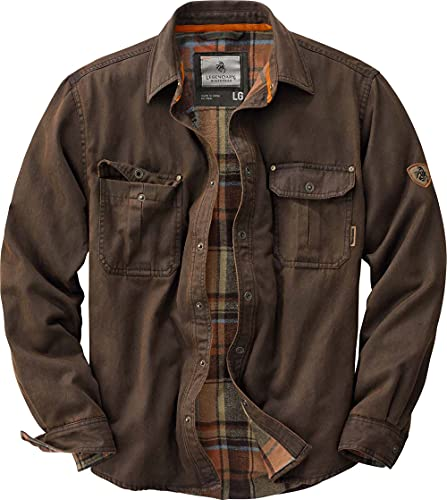 Legendary Whitetails Men's Journeyman Rugged Shirt Jacket Tobacco Medium