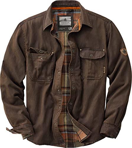 Legendary Whitetails Men's Standard Journeyman Shirt Jacket, Tobacco, X-Large