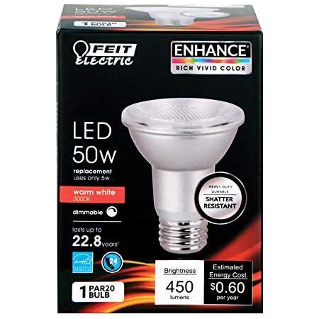 FEIT ELECTRIC PAR20DM//930CA 50W PAR20 3K LED BULB