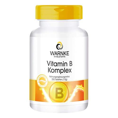 Vitamin B Komplex hochdosiert - enthält Alle B Vitamine - vegan - 250 Tabletten - Großpackung