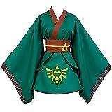 Charous Disfraz de Cosplay de Anime Game The Legend of Zelda: Twilight Princess, conjunto de uniforme de kimono utilizado para cosplay de festival o regalo-Verde_METRO