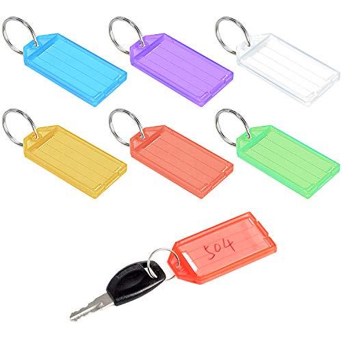 cococity kofferlabel adreslabel met label kunststof sleutelhanger, veilige bagagehanger reiskoffer etiketten meerkleurig (48 stuks)