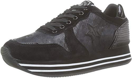 Trussardi Jeans Runner Plateaux Star, Sneaker Donna, Nero (Black K299), 37 EU