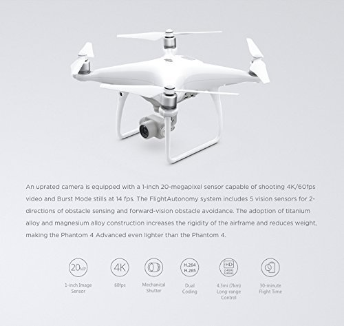 DJI Phantom 4 Advanced White (CP.PT.000689)