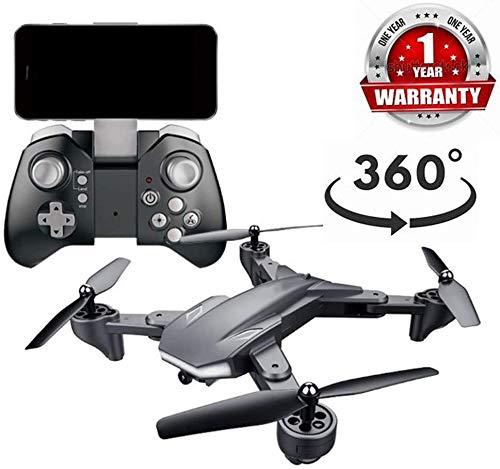 ZGYQGOO Drone con cámara, Gyro RC AltituHold, Larga Distancia Control, Vuelo en helicóptero Largo Alcance, cámara WiFi HD 2.4Ghz, Video en Vivo y GPS, Modo sin Cabeza Largo Alcance, Negro