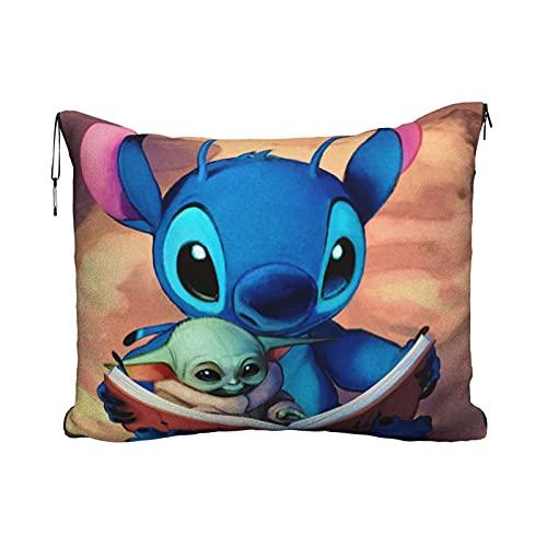 Lilo Stitch Yoda - Manta de viaje para bebé (2 en 1), diseño de Yoda
