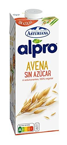Alpro Central Lechera Asturiana - Bebida de Avena, Sin Azúcar, 100% Vegetal, Baja en Grasas, Apta para Veganos, Brik de 1 litro - 1 x 1000ml