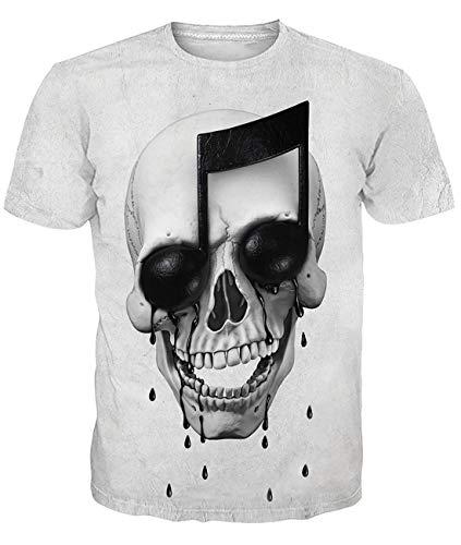 Fanient Herren Damen Aufdruck T-Shirt Rundhals Tee S M L XL XXL, Wolf, XL