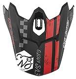 EVS Sports Men's Helmet Visor - T3 Fury (Matte Black, One Size)