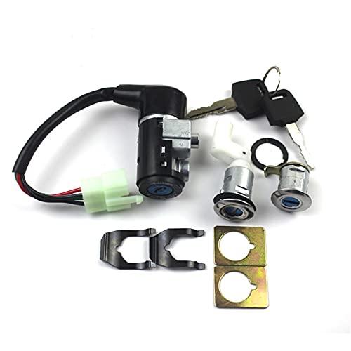 Auartmetion LJP-BASUO, para AF18 AF27 AF28 Power Power Lock Start Start Starter Switter Motor Motor Casera de Bloqueo Completa (Color : AF17 AF18 4PIN)