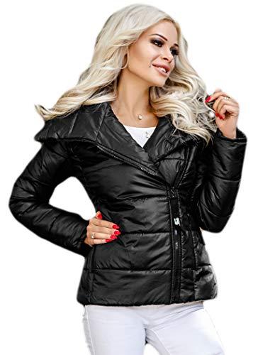 Selente #Fashionista damska kurtka jako praktyczna kurtka przejściowa/lekka kurtka zimowa/krótka pikowana kurtka w modnym wzornictwie, idealna na wiosnę i jesień