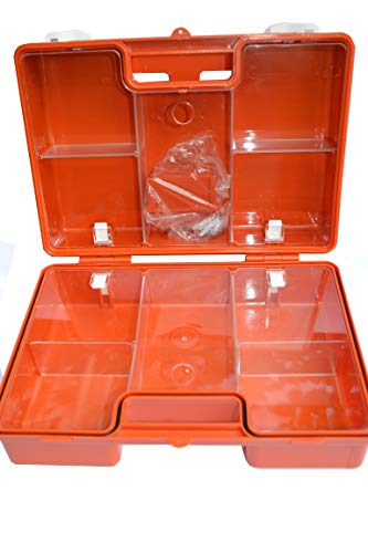 "Erste Hilfe Koffer zur Wandmontage inkl. Befestigungsmaterial und Beatmungshilfe (leer, ""SAN"" 31x21x13 cm)"