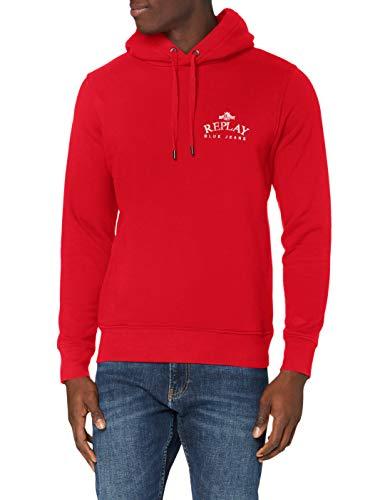 Replay M3241a.000.23040p Sudadera con capucha Rojo ( 558 Rojo Brillante ) , M para Hombre