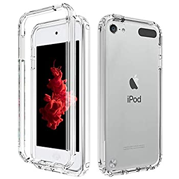 iPod Touch 5 6 7 Case 2FT Drop Test Shockproof Transparent TPU Mobile Back Case with Screen Protector  Clear