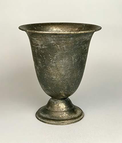 Aars International Decor Vase métallique pour Fleurs et Plantes Coupe de Jardin. 21 x 21 x 24 cm. Couleur : Marron.