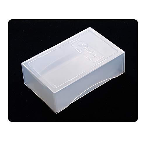 名刺ケース 1個 色:クリアー 割れにくいPP素材 サイズ大:深さ29mm