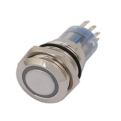 New Lon0167 DC 24V Destacados 16mm Rosca 5P eficacia confiable Lámpara LED verde Interruptor de botón pulsador de luz momentánea(id:a93 6a 25 ec5)