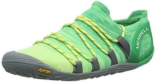 Merrell Vapor Glove 4 3D, Zapatillas Deportivas para Interior para Mujer, Verde (Sunny Lime/Beetle), 40.5 EU