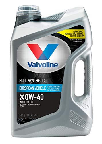 Valvoline European Vehicle Full Synthetic SAE 0W-40 Motor Oil 5 QT