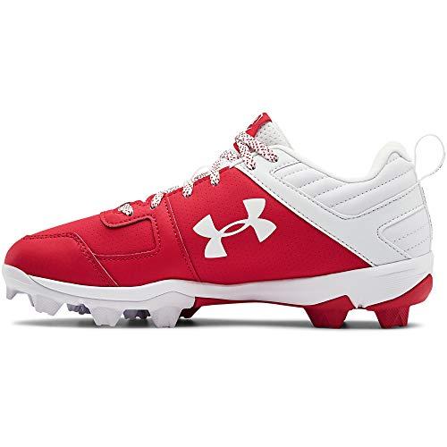 Under Armour Boys' Leadoff Low RM Jr. Baseball Shoe, Red (600)/White, 13 Little Kid Little Kid(4-8 Years)