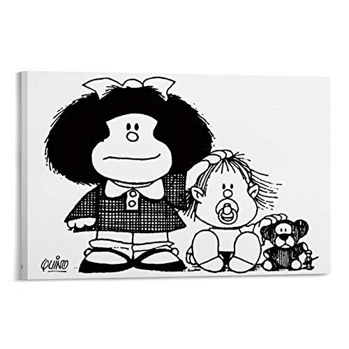 DRAGON VINES Mafia Mafalda Argentina Dibujos Anime Art Print Lienzo artístico de la oficina decoración del hogar pinturas de pared 30 x 45 cm