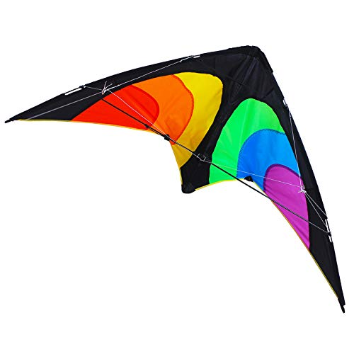 ZHUOYUE Dual-line Stunt Kite 51 Inch Wingspan, Professional Sport Kites for Adults Outdoor Sport with Kite Line, Handle and Storage Bag