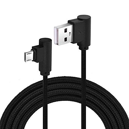 Cable trenzado de 90 grados de ángulo recto micro USB de sincronización de datos rápido de carga - 2 m