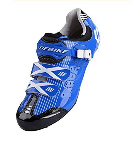 XUJINGJIE Zapatillas de Ciclismo de Carretera Unisex Specialized Zapatillas MTB Hombres con Suela De Carbono,D,45(UK11)