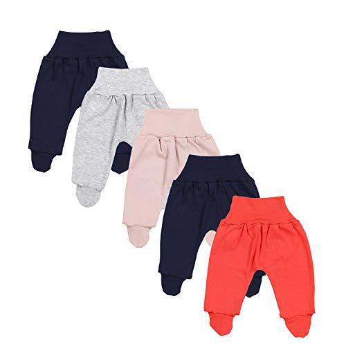 TupTam Pantalón con Pies de Bebé Pack de 5, Niña, 68