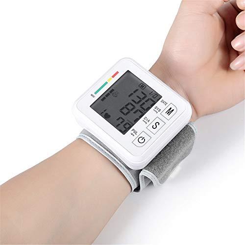 Cxfywu Huishoudelijke automatisch gekrulde pols elektronische bloeddrukmeter zonder spraak bloeddrukmeter, met voice meter bloeddrukmeter (Color : A, Size : English has audio)