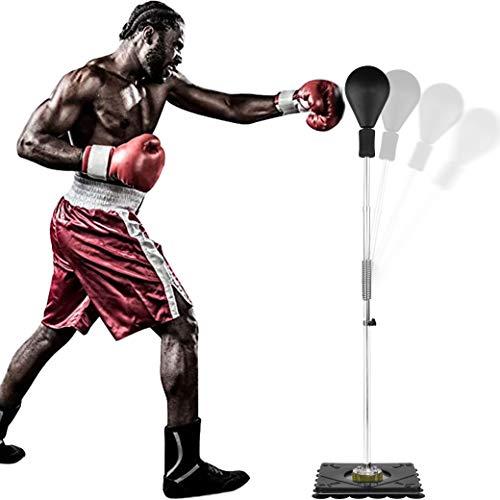 U`King Boxing Ball Speed Punch mit Einstellbarer Höhe Freistehend Punchingball - für Mixed Martial Arts Training, Stressabbau und Fitness