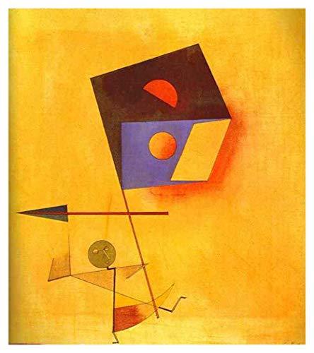 JH Lacrocon Eroberer 1930 von Paul Klee - 45X50 cm Abstrakt Leinwand Gemälde Handgemalt Reproduktionen Gerollte Wandkunst für Wohnzimmer