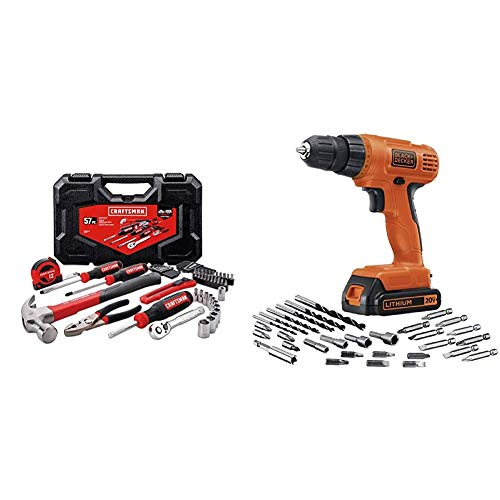 CRAFTSMAN Home Tool Kit/Mechanics Tools Kit, 57-Piece...