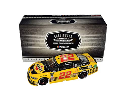 AUTOGRAPHED 2018 Joey Logano #22 Pennzoil Racing RETRO DARLINGTON THROWBACK (Team Penske) Monster Energy Cup Series Signed Lionel 1/24 Scale NASCAR Diecast Car with COA (#109 of only 445 produced!)
