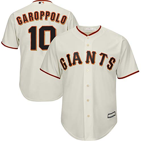 MLB X NFL Official Crossover Youth 8-20 Cool Base White Home Player Replica Jersey (Medium 10/12, Jimmy Garoppolo San Francisco Giants)