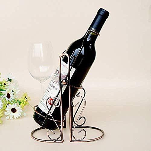 CAIJINJIN estante del vino Forjado del vino del hierro de almacenamiento de vino bastidor pivotante casa de metal restaurante chasis de armario de almacenamiento de vino retro cocina escritorio estant