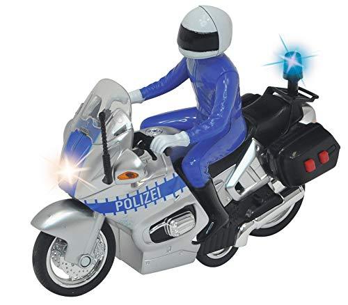 Dickie Toys Polizeimotorrad, Polizei, Motorrad, Figur, Spielzeug, 15 cm, für Kinder ab 3 Jahren