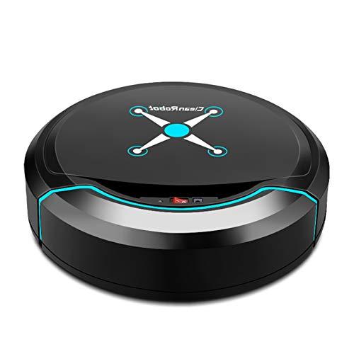 LXRZLS Limpieza de vacío Auto Robot Smart Barrido Robot Suelo Suciedad Limpiador automático de Cabello de Polvo para limpiadores Recargables eléctricos para el hogar (Color : Black)