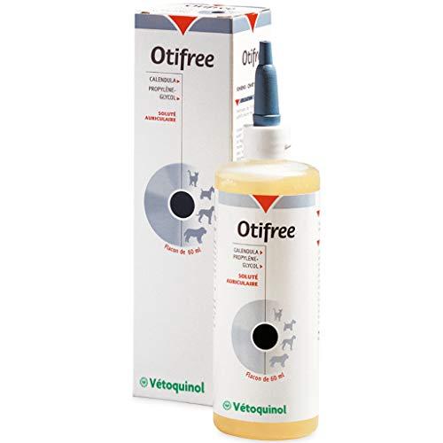 Vetoquinol P9026 Otifree oorreiniger voor katten en honden – 60 ml