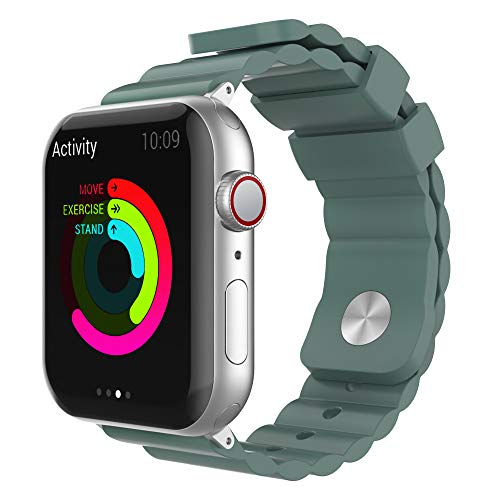 AHASTYLE Cinturino di ricambio in silicone compatibile con Apple Watch 38 mm, 40 mm, 42 mm, 44 mm, iWatch Series 5 (2019), Serie 4, Serie 3, Serie 2, Serie 1