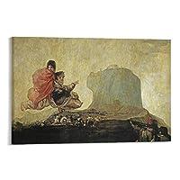 フランシスコ・デ・ゴヤアスモデア キャンバスに絵画 壁アートポスター スクロール絵 プリント リビングルームの壁の装飾 ホームポスター 20×30inch(50×75cm)