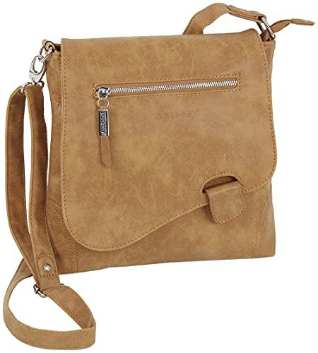 Bag Street - Bolso de hombro con presilla, aspecto desgastado, coñac (Marrón) - 3421