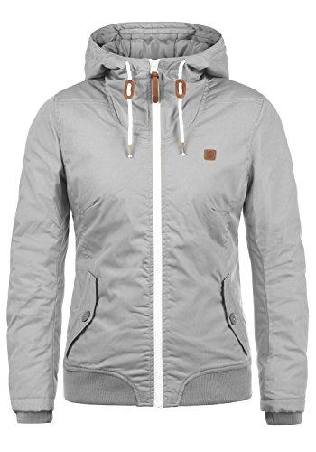 DESIRES Tilla Damen Übergangsjacke Jacke gefüttert mit Kapuze, Größe:XXL, Farbe:Light Grey (2325)
