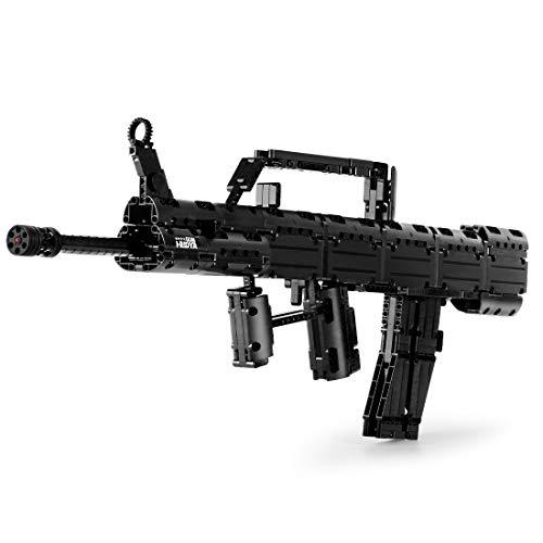 PEXL Juego de construcción de pistolas de ingeniería, modelo de simulación, 780 bloques de construcción compatibles con Lego